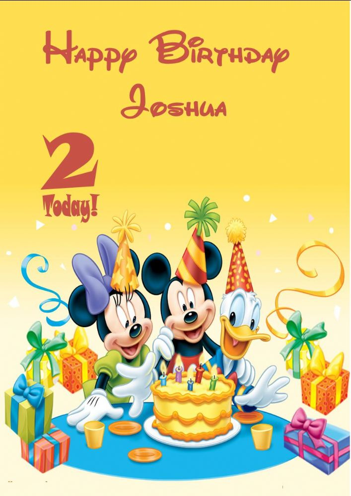 Personalised Mickey Mouse Minnie Mouse Donald Duck